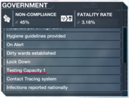 TestingCapacityGovernment