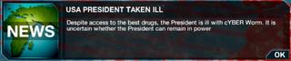 USA President taken ill