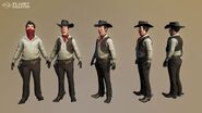 Planet Coaster - western theme male mascot