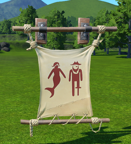 Pirate Toilet Banner