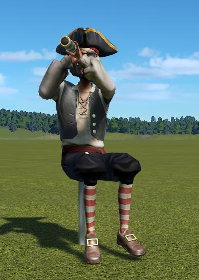 Sitting Pirate 2