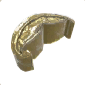 Ancient Golden Statue Mouth 04
