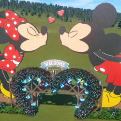 Planet Coaster - Mickey and Minnie Mouse Archway by Doh 265.png