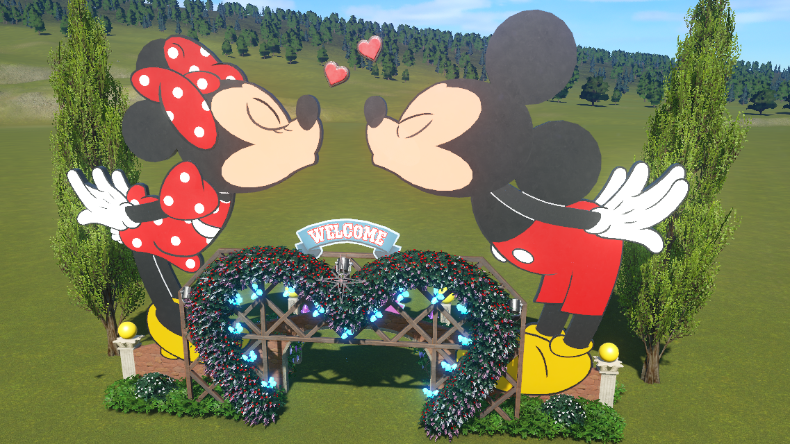 Mickey & Minnie Mouse Archway by Doh 265