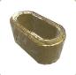 Ancient Golden Statue Stone Hoop