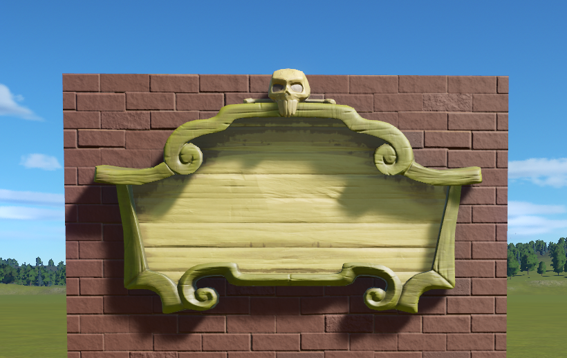 Pirate Wooden Skull Sign