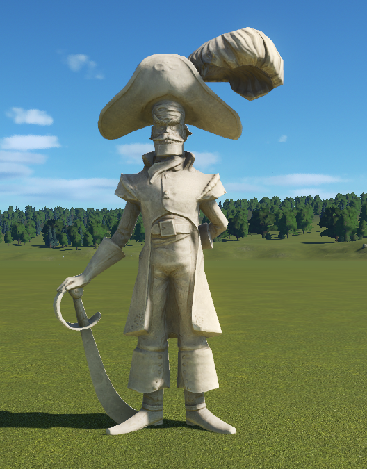 Pirate Statue - Captain Lockjaw Statue