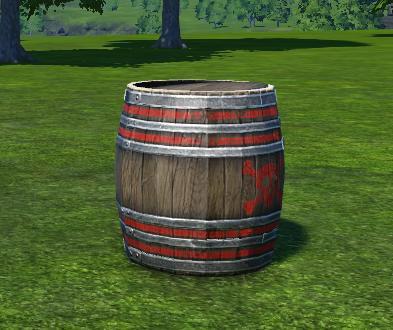 Exploding Wooden Barrel