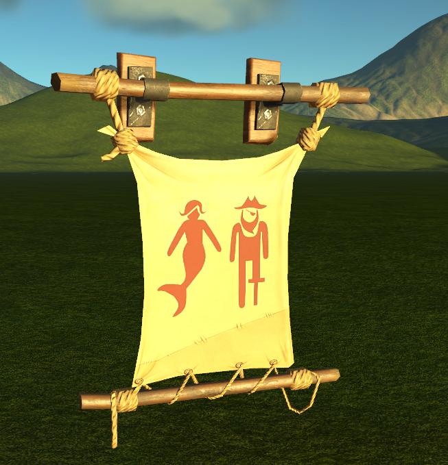 Pirate Restroom Banner