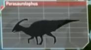 Parasaurolophus in planet dinosaur