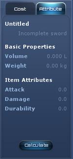 The basic attribute panel