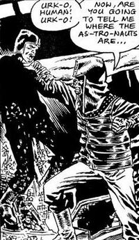 Urko Attacks A Mutant; illustration by Mike McColm