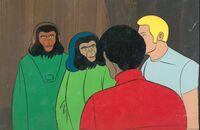 Cornelius, Zira, Jeff And Bill