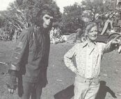 Gerrold with director J. Lee Thompson