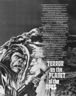 'Terror on the Planet of the Apes' title page