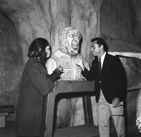 Zira and Rod Serling with the Lawgiver bust, June 1967