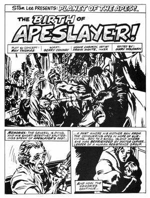 'Apeslayer'; art by Howard Chaykin and Frank Monte