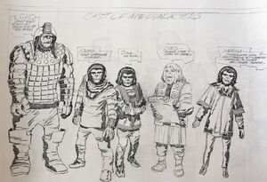 Jack Kirby 'Planet of the Apes' concept art