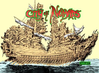 'City of Nomads'; art by Tom Sutton