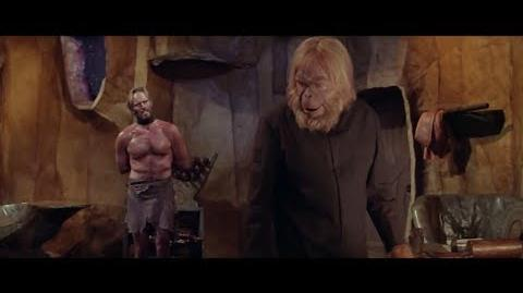 Planet of the Apes (1968) Taylor talks with Dr