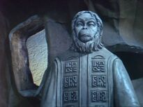 A Lawgiver statue from 'Planet of the Apes'