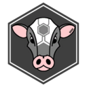 Cyber Cow Decal