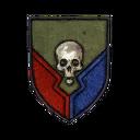 Classic Skull Shield Decal