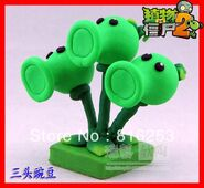 Free-Shipping-New-Arrvial-Plants-vs-zombies-2-It-is-about-time-Threepeater-action-figure-toy