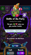 Unlife of the Party stats