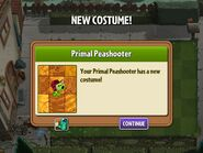 Getting Primal Peashooter's First Costume