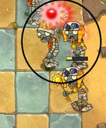 Ra Zombie has no red eyes