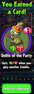 Earning Unlife of the Party