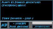 Plants VS Zombies Adventure (FaceBook) Music - Town Invaders - Loop 2-0