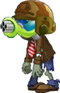 Gatling Pea Zombie Almanac Image