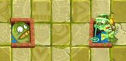 Jackfruit blocking Lost Guide Zombie's tunnel
