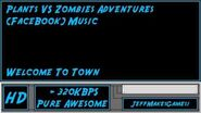 Plants VS Zombies Adventure (FaceBook) Music - Welcome To Town-0