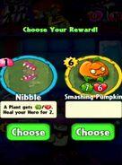 Choice between Nibnle and Smashing Pumpkin