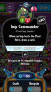 Imp Commander statistics