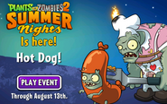 Plants vs Zombies 2 Summer Nights Is Here! Hot Dog! Play Event Through August 13th