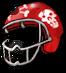 Zombie football helmet2