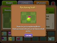 Homing Thistle when bought