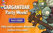 Gargantuar Party week ad English