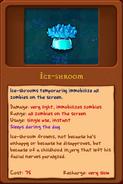 Ice-Shroom alamanac new