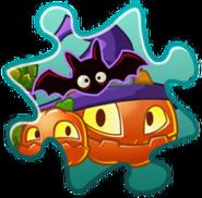 Pumpkin Witch Costume Puzzle Piece