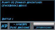 Plants VS Zombies Adventure (FaceBook) Music - Battle 1-0