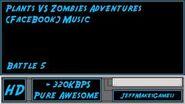 Plants VS Zombies Adventure (FaceBook) Music - Battle 5-0