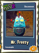 Mr. Freezy Sticker