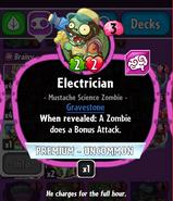 Electrician new statistics
