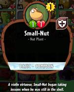 Small-nut info