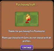 Fire Peashooter bought